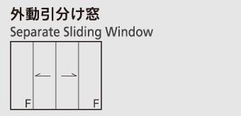 外動引分け窓